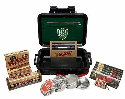 RAW Black Rolling Papers 1 1/4, Pre Rolled Tips, Roller, and more