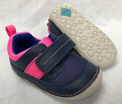 BNIB Clarks Girl Little Splash Blue Leather Cruising First Shoes E/F/G/H