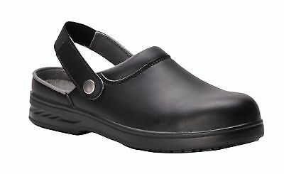 Portwest Steelite™ Safety Clog SB AE WRU Kitchen Catering FW82 - Unisex - Black