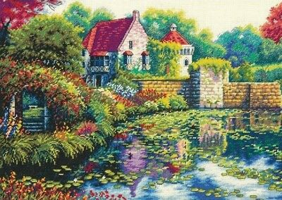 "DIMENSIONS  GOLD COLLECTIONS ""ENGLISH CASTLE""CROSS STITCH KIT  Kreuzstich-Stick"