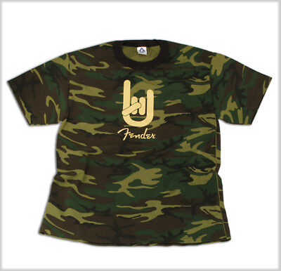 Fender Rock On T-Shirt - Camouflage, Size L