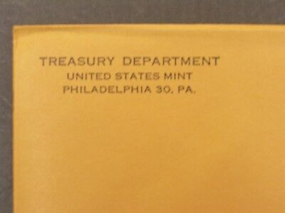 1962 US Mint Proof Set, Silver Coins, Unopened Envelope, Free Shipping