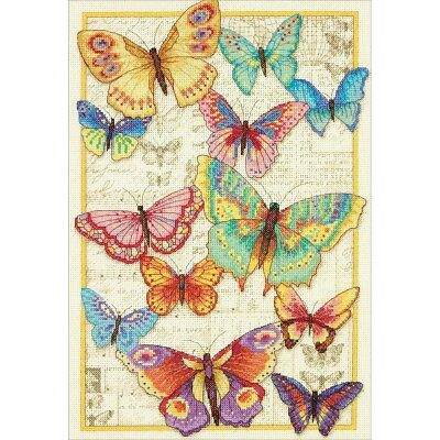 "DIMENSIONS  GOLD COLLECTIONS ""BUTTERFLY BEAUTY""CROSS STITCH KIT  Kreuzstich"