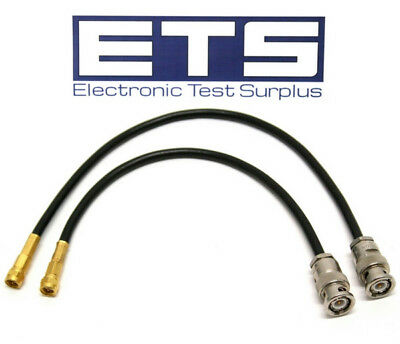 2 Piece Pomona SMA Male To BNC Male Low Loss Coax Coaxial Jumper Cable Set