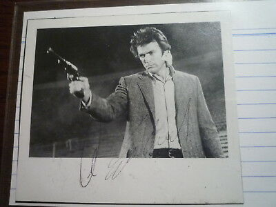 CLINT EASTWOOD Dirty Harry autogramm autograph signed in person