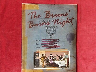 Old The Broons Burns Night Glebe Street School Scrap Book