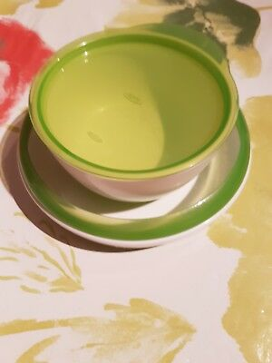 Oxo Tot baby green plate and bowl set