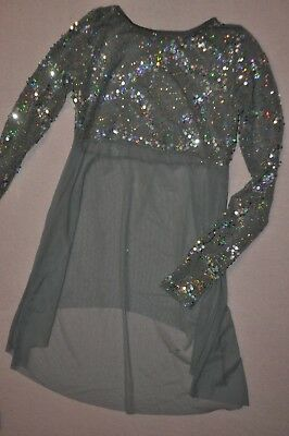 Theatricals Adult size XLarge slate gray sheer with sequins dress item #TH4086