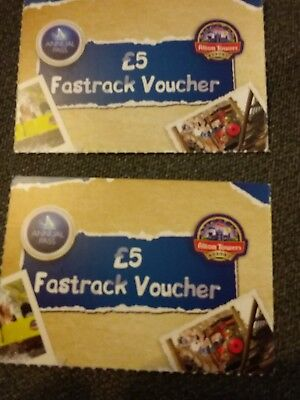 £5 fastrack vouchers for Alton Towers x 2
