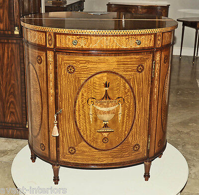 Theodore Alexander Sheraton Satinwood Rosewood Inlaid Server Cabinet Commode New