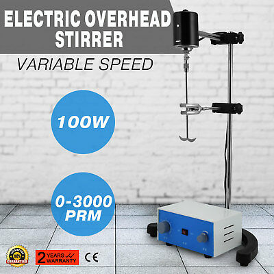 New 100W Electric Overhead Stirrer Mixer Variable Speed 110V