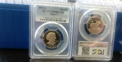(Boxed $1 Lot) 20 Pcgs Pr69Dcam Graded Proof Sba Dollars 1979 Type One $1 Coins