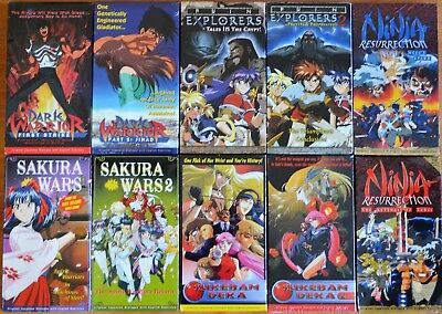 Wholesale Lot of 10 Anime VHS Video Vintage New Subtitles in English 2 Tape Sets