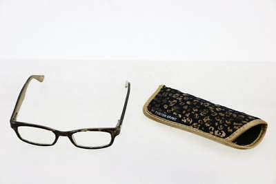 Foster Grant Gold / Leopard Frame Charriya Rectangular Prescription Eye Glasses