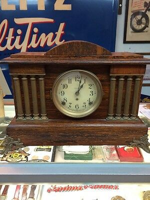 Antique Seth Thomas Adamantine 8 Column Mantel Clock