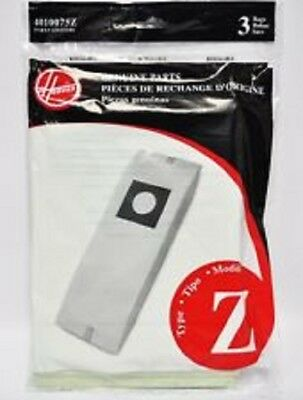 Genuine HOOVER Type Z Vacuum Bag # 4010075Z  (3 pack)  FREE SHIPPING!!