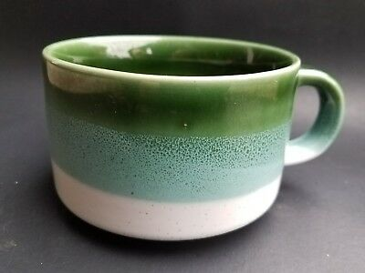 Vintage Mug Spotted Korea Mid Century Speckled Stoneware Green Turquoise Ombre