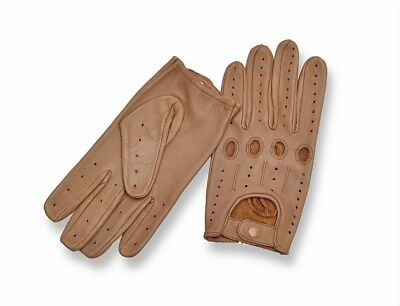 Top Quality Sheepskin Real Soft Leather Men Fashion Driving Gloves