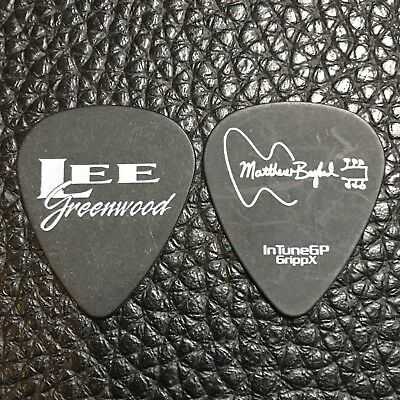 Guitar Pick - Lee Greenwood -  Real Tour Pick