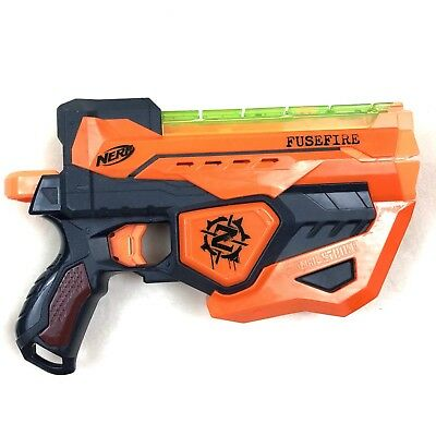 NERF Gun Fusefire Zombie Strike Dark Blaster Disc Shooter Gun Toy Cosplay
