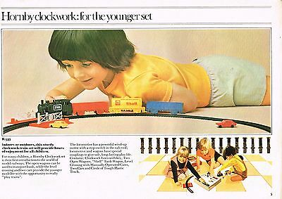 Hornby Train Vintage Brochure mid 1970s - Missing a few pages