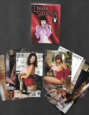 2018 Playboy LINGERE SEDUCTION 100 Card Set plus 2 GOLD 10 Card Chase Sets