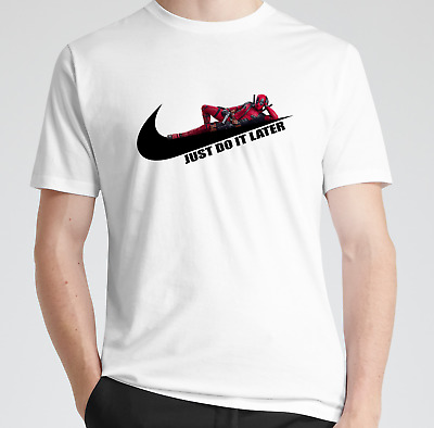 Deadpool Sports Comedy T-Shirt Just do it Later Birthday Gift Men's Womens kids