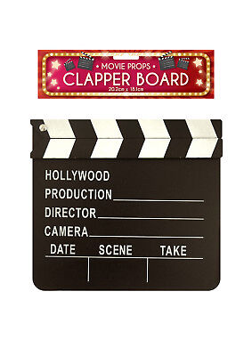 Clap Clapper CLAPPERBOARD Board Film Movie Action Scene Slate Hollywood