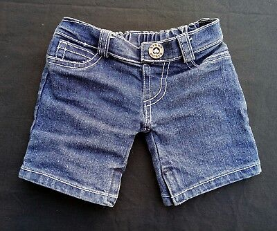 Build A Bear Workshop Denim Shorts Blue Teddy Bear Clothes Dress up