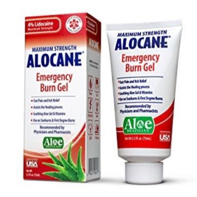 Alocane Maximum Strength Emergency Burn Gel 2.5 Fl. Oz. Ex. 09 / 19 *SEALED*