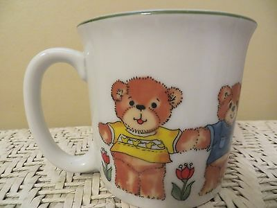 Vintage Enesco /lucy Rigg/ Child's Mug Or Cup / Teddy Bears / Small / 1979 / Euc