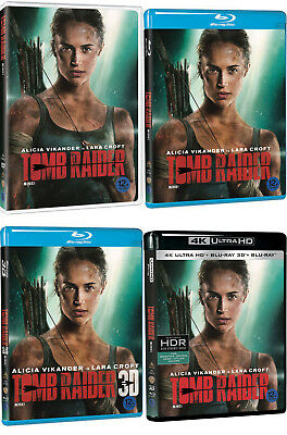 Tomb Raider (2018) DVD, Blu-ray, 3D, 4K UHD / Choose one!