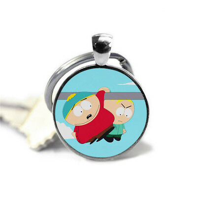 South park Eric kaman and butters were hung on lampposts with glass key rings