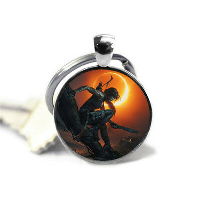 Tomb raider shadow alloy glass key chain to send friends to the family