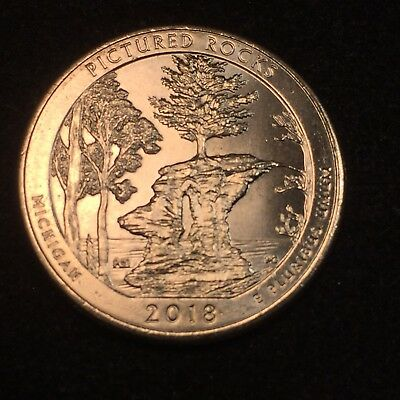 2018 P Pictured Rocks National State Park Quarter ATBeautiful Michigan UNC