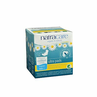 Natracare Natural Ultra Pads w/wings Super w/organic cotton cover  - 12 Pack