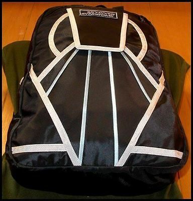 Skydiver Syndrome Backpack Parachute Mini Container Rig Gym Book Bag Black S12