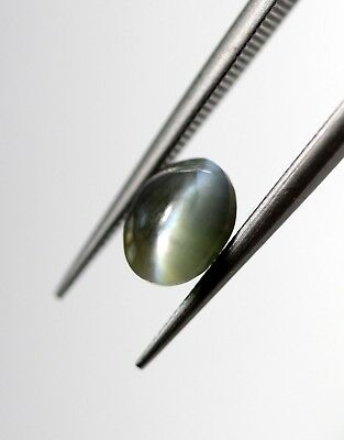 Fine Blue Chatovancy 0.76 Ct Natural Alexandrite Cats Eye Loose Gem 5*4 MM Size