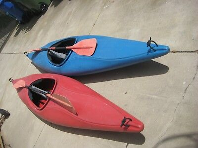 2 KAYAKS or CANOES  Dancer Perception With Paddles - Local pick-up.