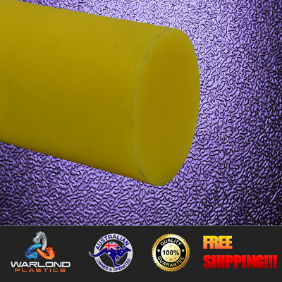 Yellow Oil Filled Cast Nylon Rod - Polyamide - (50mm) x 245mm Long Diameter