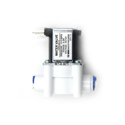 """DC12V 1/4"""" Electric Solenoid Valve Water Air Inlet Flow Switch Normally Closed P"""