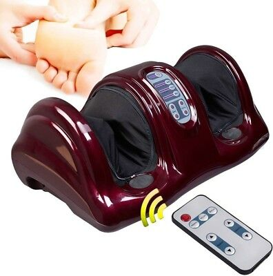Electric Foot Massager Machine w/ Remote Control for Spa Kneading Rolling