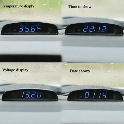 3 In1 Car Charger LED Mini Digital Voltmeter Thermometer Car USB Battery Monitor