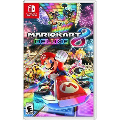 New Mario Kart 8 Deluxe Nintendo Switch Racing Game Brand New Factory Sealed