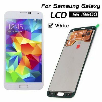 For Samsung Galaxy S5 G900F i9600 Touch Screen White Replacement LCD Display
