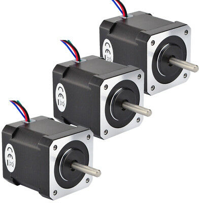 3PCS Nema 17 Stepper Motor 0.2-0.52Nm 0.4A-1.3A 4-wires 2-Phase CNC Router Mill