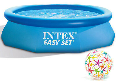 INTEX Easy Set Swimming Pool 244x76 cm Schwimmbecken Quick-Up Schwimmbad 28110