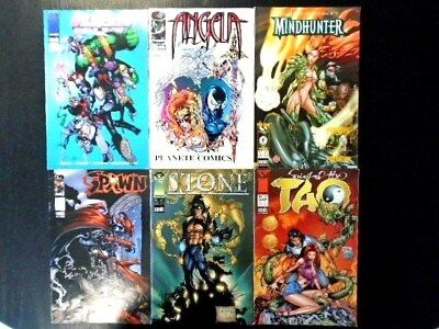 Annees 90 Lot 6 Bd Comics Angela Spawn Tao Stone Wild Cats Mindhunter
