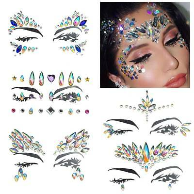 4674cabae4 FACE GEMS MULTI Color Body-Glitter Adhesive Rhinestone Temporary ...
