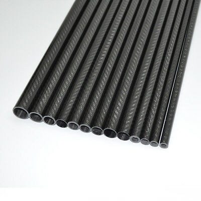 3K Carbon Fiber Tube OD22mm* ID20mm *1000mm  Roll Glossy Surface (US 1PC 22*20)